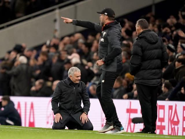 Mourinho's side were much stronger after the break (John Walton/PA)