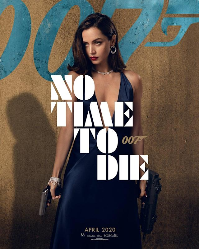 """Fresh from appearing alongside Daniel Craig in<em> Knives Out,</em> Anna De Armas is playing the mysterious Paloma who – despite being described by the actress as """"bubbly"""" – is armed to the teeth. (Universal Pictures)"""