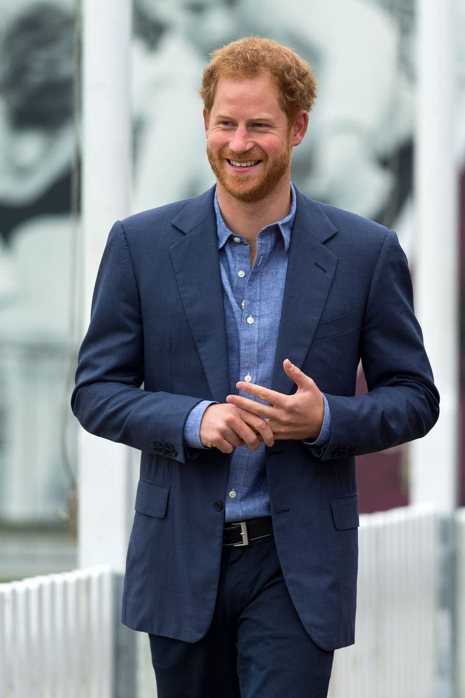 """<p>Unlike William, Prince Harry wasn't exactly <em>born</em> to be king—but he seems perfectly cool with that. To the point where he and his wife, <a href=""""https://www.cosmopolitan.com/entertainment/a20716888/meghan-markle-net-worth/"""" rel=""""nofollow noopener"""" target=""""_blank"""" data-ylk=""""slk:Meghan Markle"""" class=""""link rapid-noclick-resp"""">Meghan Markle</a>, <a href=""""https://www.cosmopolitan.com/entertainment/celebs/a30496404/meghan-markle-prince-harry-quitting-royal-family-timeline/?utm_campaign=cosmo-2020-tradetracker&utm_medium=affiliate&utm_source=tradetracker&utm_term=137180"""" rel=""""nofollow noopener"""" target=""""_blank"""" data-ylk=""""slk:decided to step back from senior royal duties and move to America"""" class=""""link rapid-noclick-resp"""">decided to step back from senior royal duties and move to America</a>. But FYI, despite stepping back, <a href=""""https://www.etonline.com/inside-meghan-markle-and-prince-harrys-new-life-apart-from-the-royal-family-141859"""" rel=""""nofollow noopener"""" target=""""_blank"""" data-ylk=""""slk:Harry still remains sixth in line to the throne"""" class=""""link rapid-noclick-resp"""">Harry still remains sixth in line to the throne</a>. </p>"""