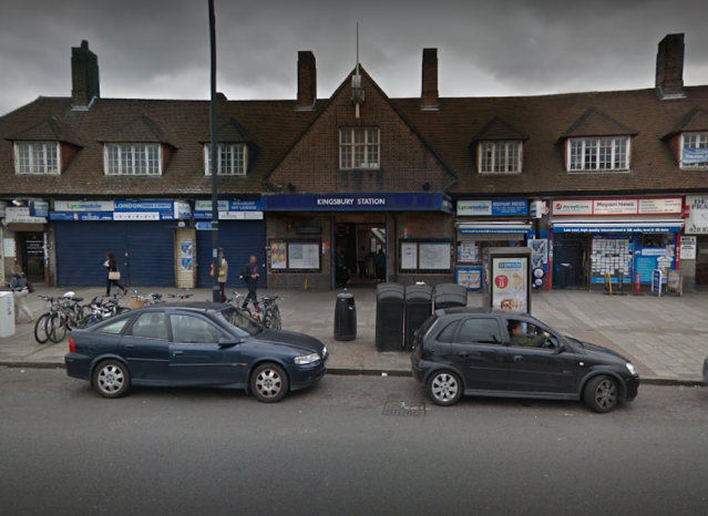 The shooting happened close to Kingsbury Tube station in north-west London (Picture: Google)