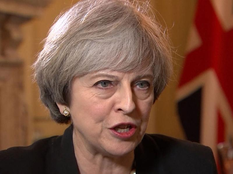 Theresa May making an impassioned plea about a second referendum on independence: PA