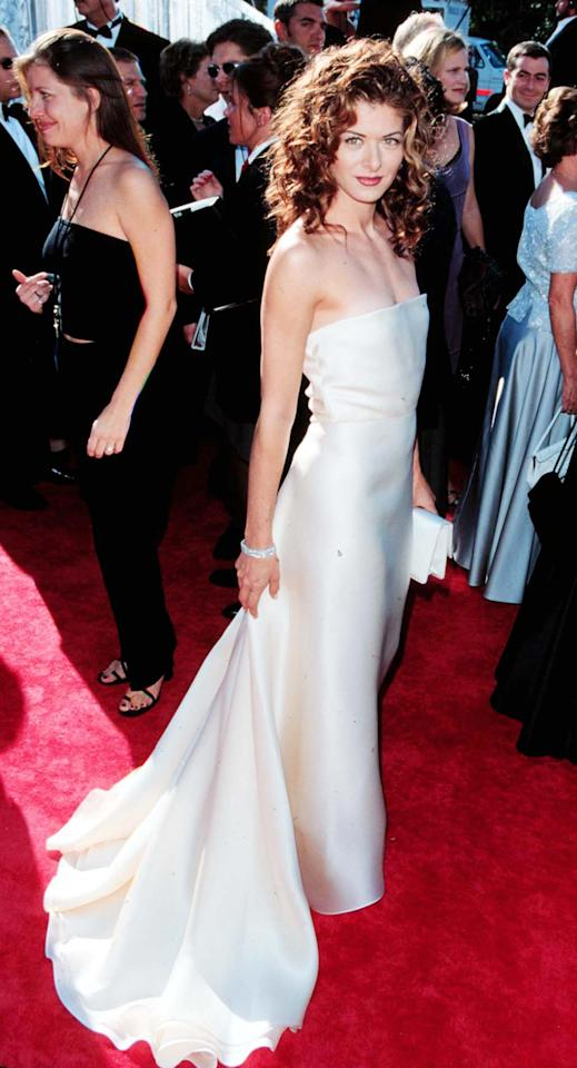 <p>Messing's head of red, curly hair looked shiny and defined at the Emmys. </p>