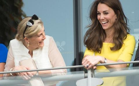 The Duchess of Cambridge and Sophie Countess of Wessex - Credit: Eddie Mulholland