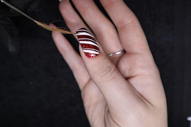 PHOTO: Kirsty Smitheman Brand Ambassador of Pure Nails gives us a step by step guide on how to create these festive Christmas sweater nails. (MissBudgetBeauty)