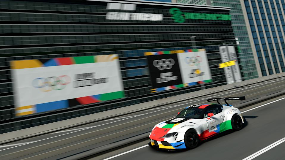 LONDON, ENGLAND - MAY 13: (Editors note: This image was computer generated in-game) The Gran Turismo Olympic Virtual Series opens to online competitors for time trial qualifying. The fastest 16 competitors globally will have the chance to compete in the grand final ahead of the Tokyo Olympics later this year on May 13, 2021 in London, England. (NOTE TO USER - Gran Turismo Sport: TM & © 2017 Sony Interactive Entertainment Inc. Developed by Polyphony Digital Inc. Manufacturers, cars, names, brands and associated imagery featured in this game in some cases include trademarks and/or copyrighted materials of their respective owners. All rights reserved). (Photo by Clive Rose - Gran Turismo/Gran Turismo via Getty Images)