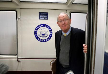 Senate Health, Education, Labor and Pensions Committee Chairman Lamar Alexander (R-TN) stands in the subway on Capitol Hill in Washington