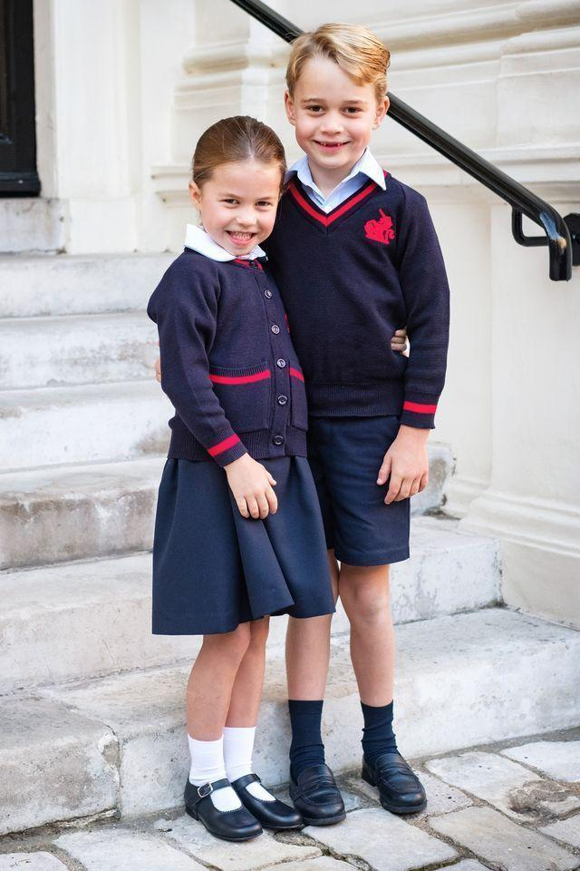 <p>While Charlotte was a little shy upon arriving for her first day of school at Thomas's Battersea, she gave the camera a smile for this portrait to officially mark the occasion.</p>