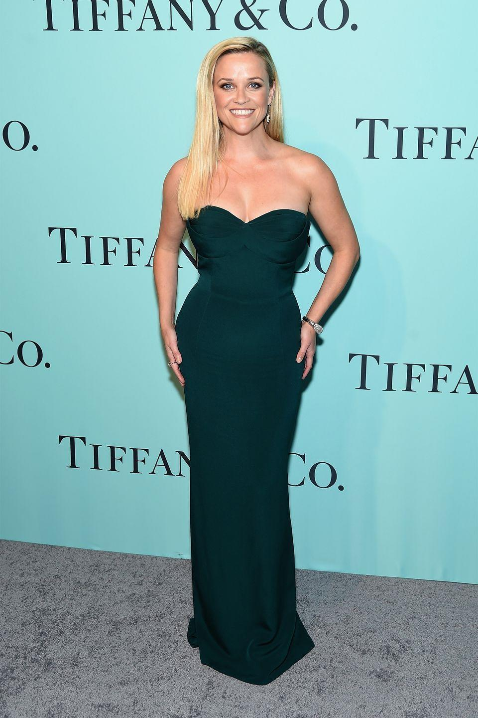 <p>The actress stepped out in a figure-hugging Brandon Maxwell gown for Tiffany & Co. annual star-studded Blue Book event. </p>
