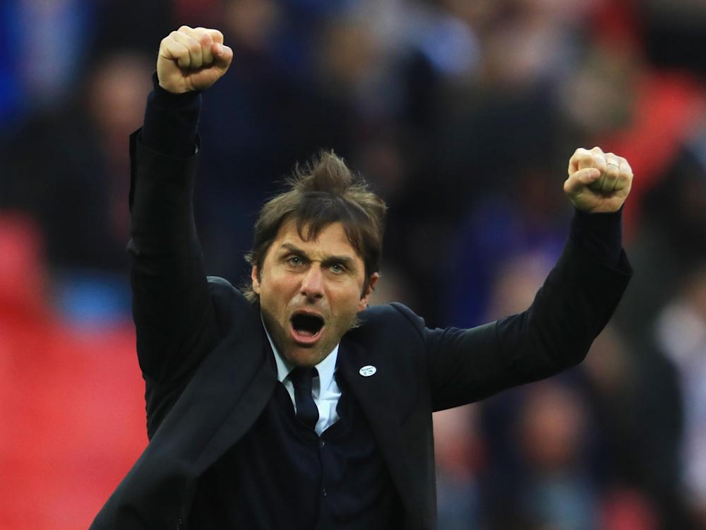 Antonio Conte was pleased with his side's performance at Wembley: Getty