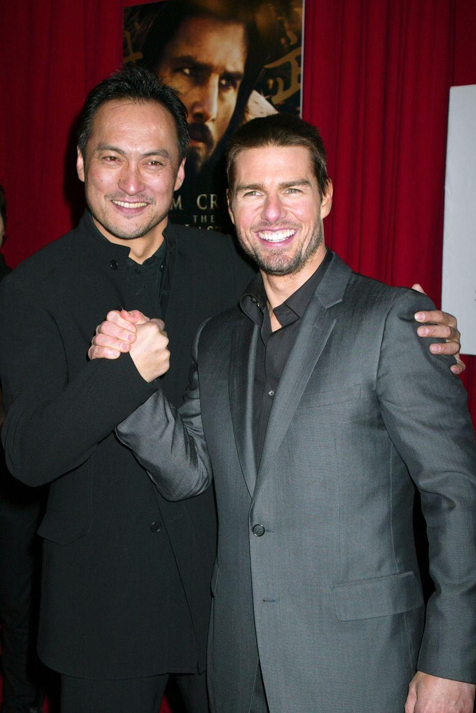 <p>Ken Wantanabe and Tom Cruise during <em>The Last Samurai </em>New York Premiere on Dec. 2, 2003.</p>