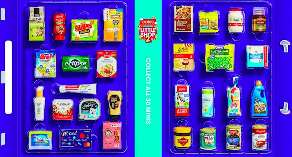 Coles Little Shop collectables in book. Source: Supplied