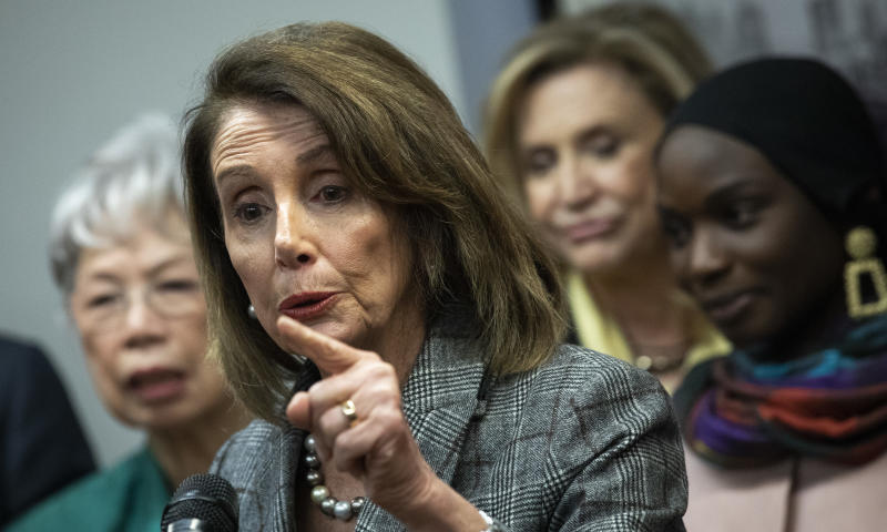 House Speaker Nancy Pelosi says Democrats will fight for transparency in the release of special counsel Robert Mueller's findings.