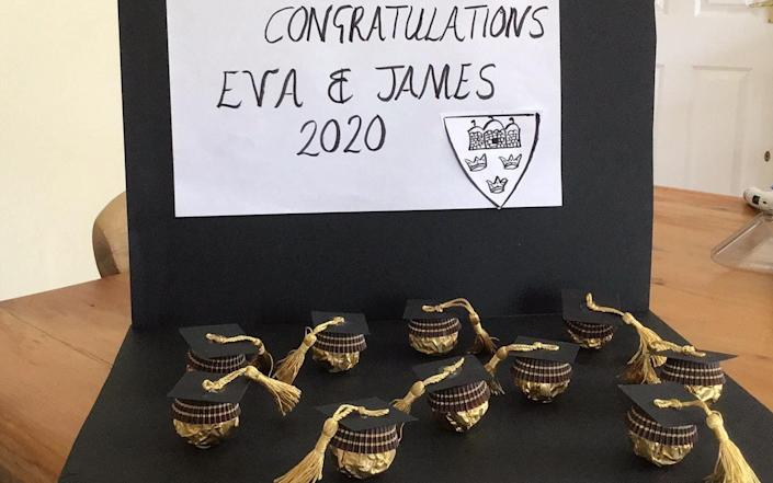 James Knight's mother crafted him and his girlfriend a make-shift graduation present - Eva Langwith