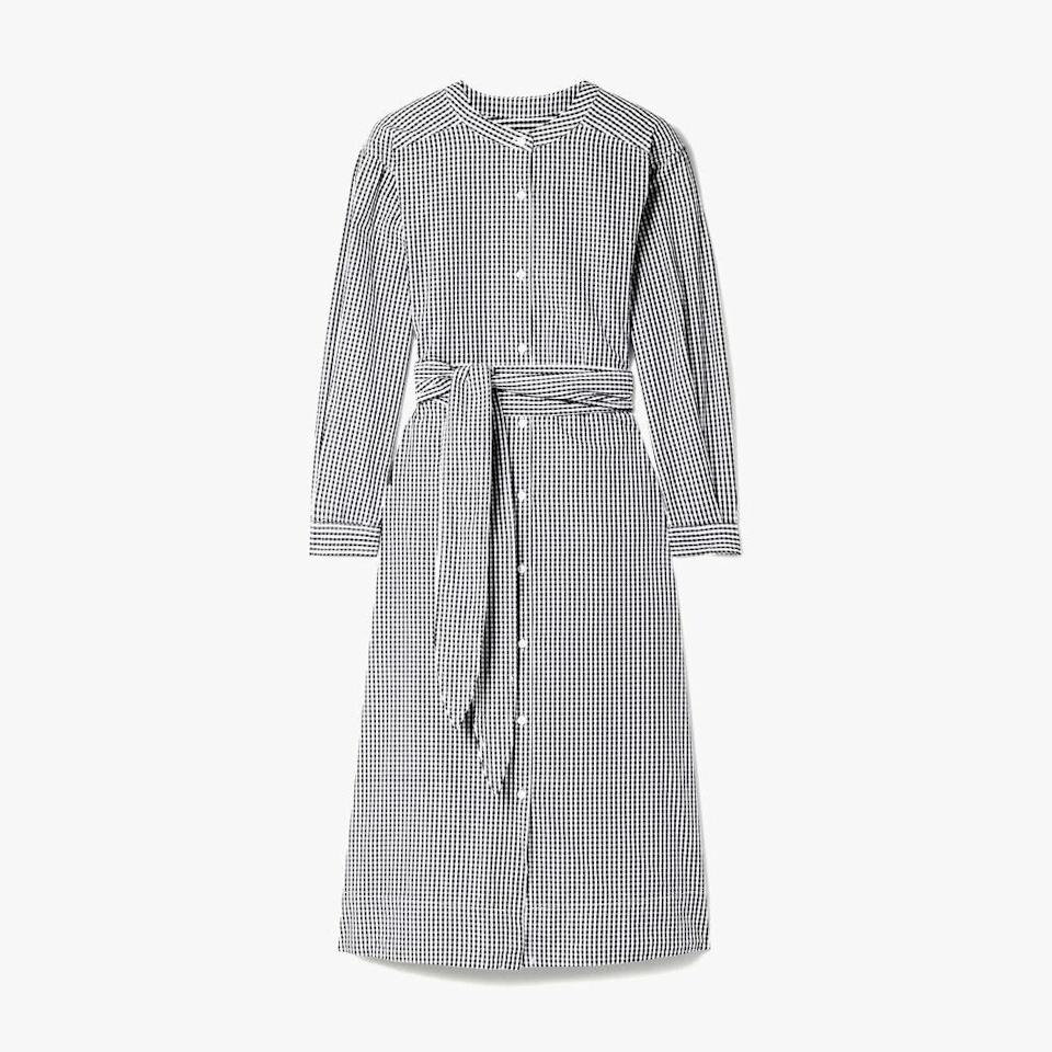 "$180, NET-A-PORTER. <a href=""https://www.net-a-porter.com/en-us/shop/product/alex-mill/clothing/midi-dresses/kelsey-belted-gingham-cotton-poplin-midi-dress/2009602611210"" rel=""nofollow noopener"" target=""_blank"" data-ylk=""slk:Get it now!"" class=""link rapid-noclick-resp"">Get it now!</a>"