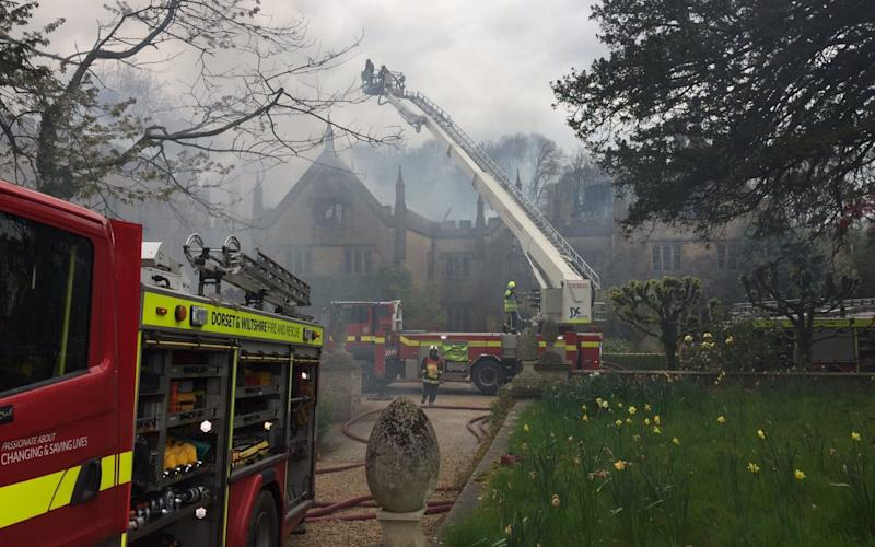 The aftermath of the fire at Parnham House - @DWFRSCraigBaker