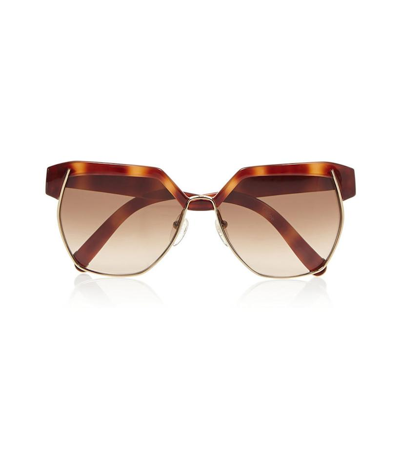 "<p>These seventies-inspired frames are perfect for trying out one of fall's biggest trends without fully investing in it.</p><p>Chloé Square-Frame Acetate Sunglasses, $375, <a href=""http://www.net-a-porter.com/us/en/product/631520"">net-a-porter.com</a></p>"