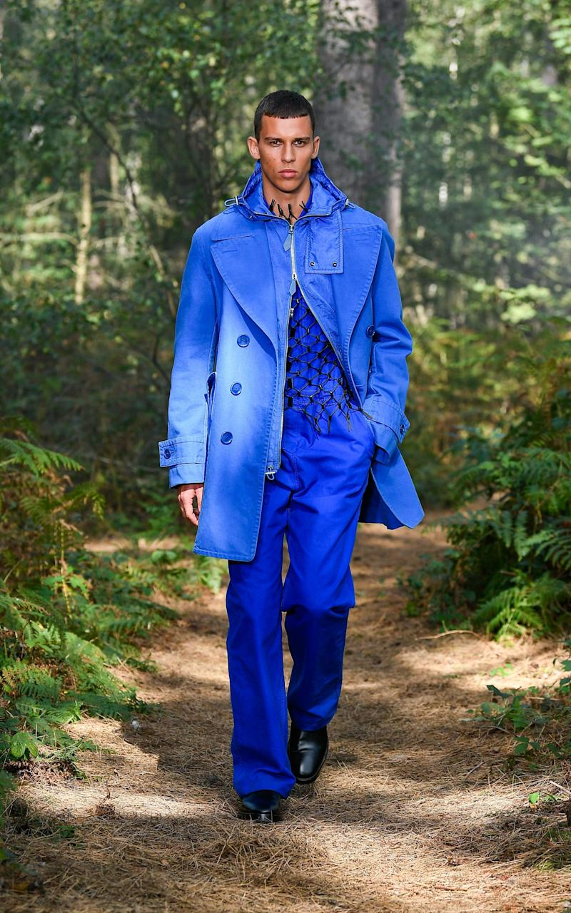 A look from Burberry's spring/ summer 2020 show