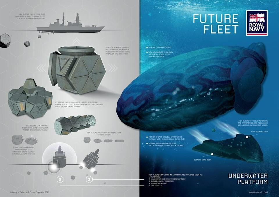 An underwater platform design (Royal Navy/Ministry of Defence/Crown Copyright/PA) (PA Media)