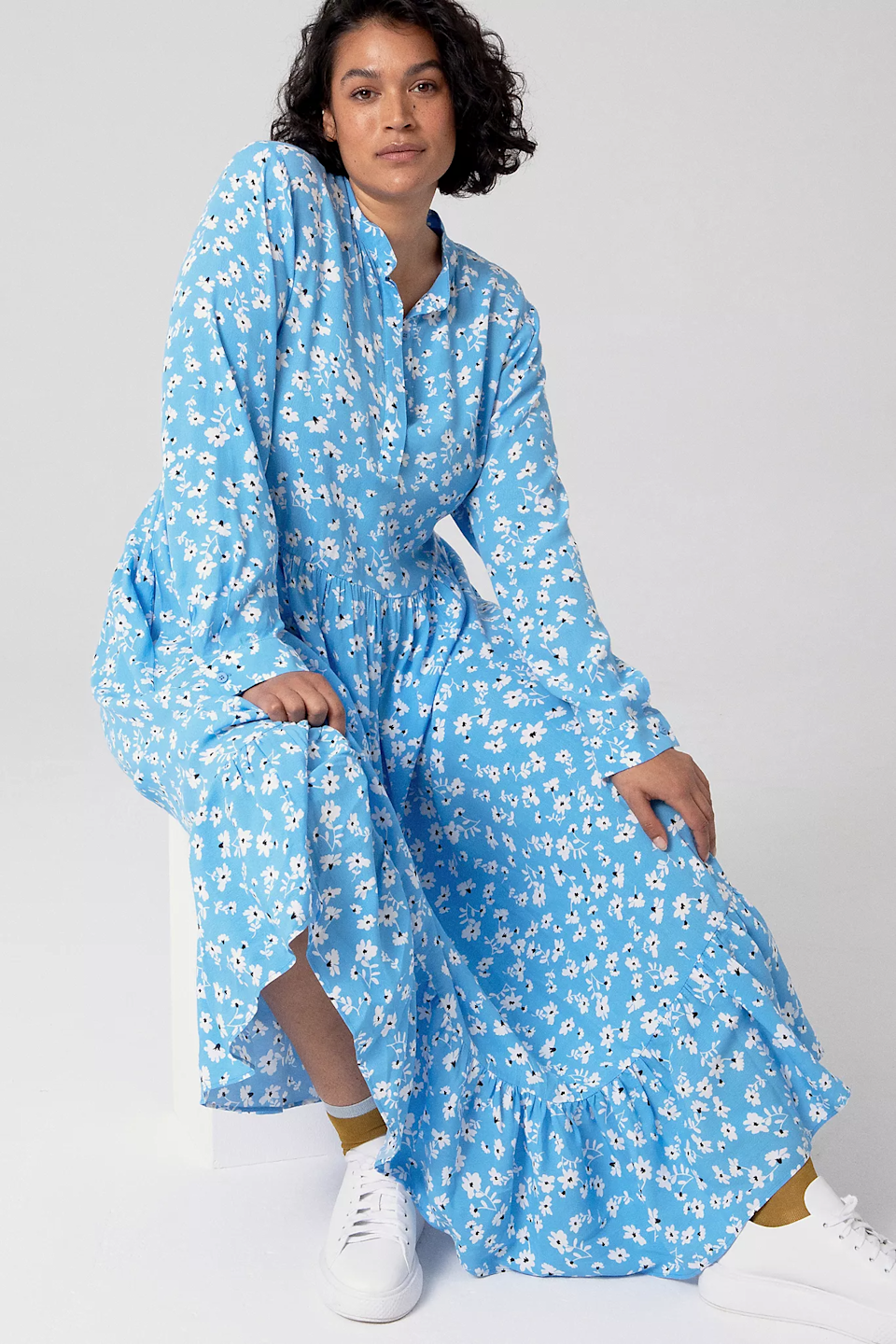 """<br><br><strong>Mare Mare</strong> Lynda Maxi Dress, $, available at <a href=""""https://go.skimresources.com/?id=30283X879131&url=https%3A%2F%2Fwww.anthropologie.com%2Fshop%2Flynda-maxi-dress%3Fcategory%3Dplus-size-dresses%26color%3D040%26type%3DPLUS%26viewcode%3Dc%26quantity%3D1"""" rel=""""nofollow noopener"""" target=""""_blank"""" data-ylk=""""slk:Anthropologie"""" class=""""link rapid-noclick-resp"""">Anthropologie</a>"""