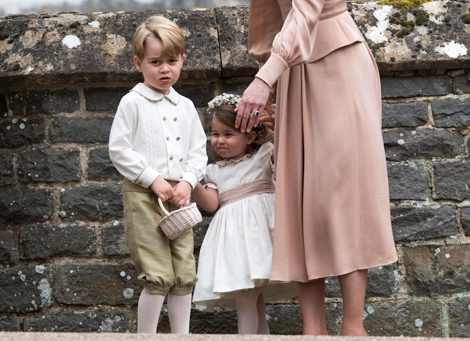 Princess Charlotte and Prince George were a big hit at Pippa Middleton's wedding [Photo: PA]