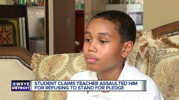 Teacher Accused Of Assaulting Student For Sitting During Pledge Of Allegiance