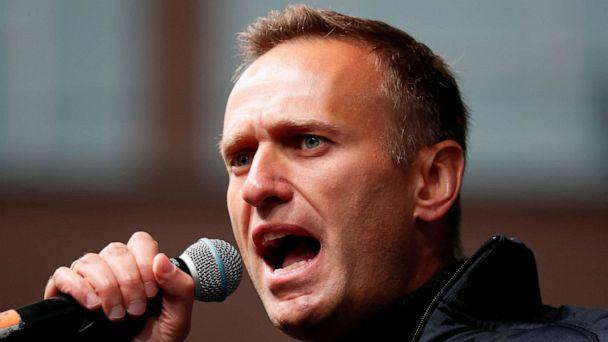 FILE PHOTO: Russian opposition leader Alexei Navalny delivers a speech during a rally to demand the release of jailed protesters, who were detained during opposition demonstrations for fair elections, in Moscow, Russia September 29, 2019. (Shamil Zhumatov/Reuters)