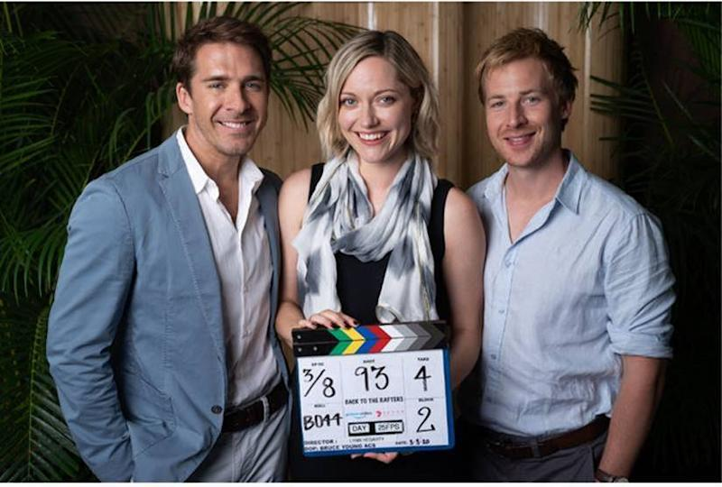 Georgina Haig and Hugh Sheridan pose for Back To The Rafters