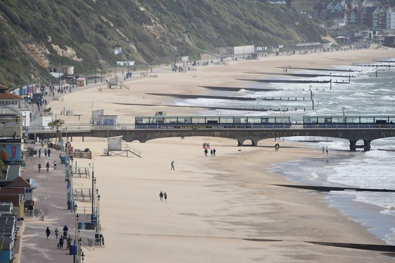 Cooler weather brought fewer visitors to the beach in Bournemouth (Getty Images)