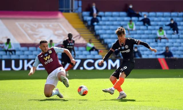 Mason Mount, right, was first to threaten for Chelsea (PA)