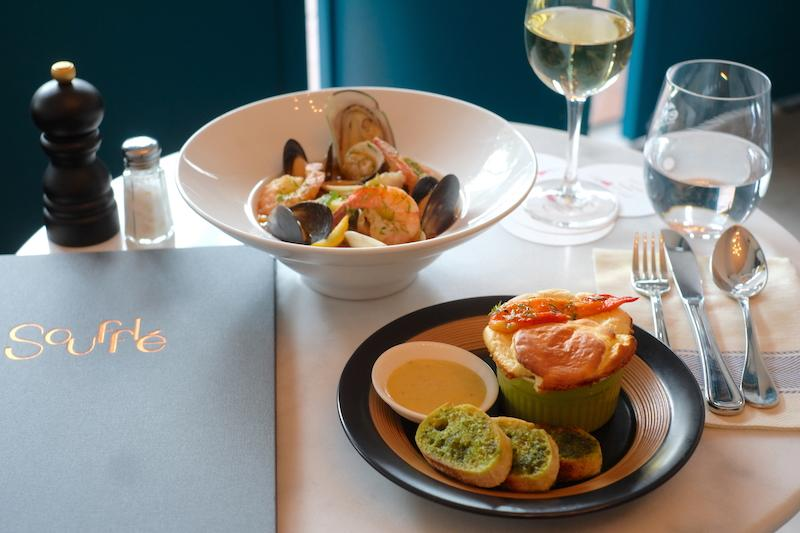 Bouillabaisse with mini souffle. Photo: Souffle