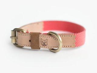 Ohpopdog natural leather and hemp cotton collar | Vanillapup