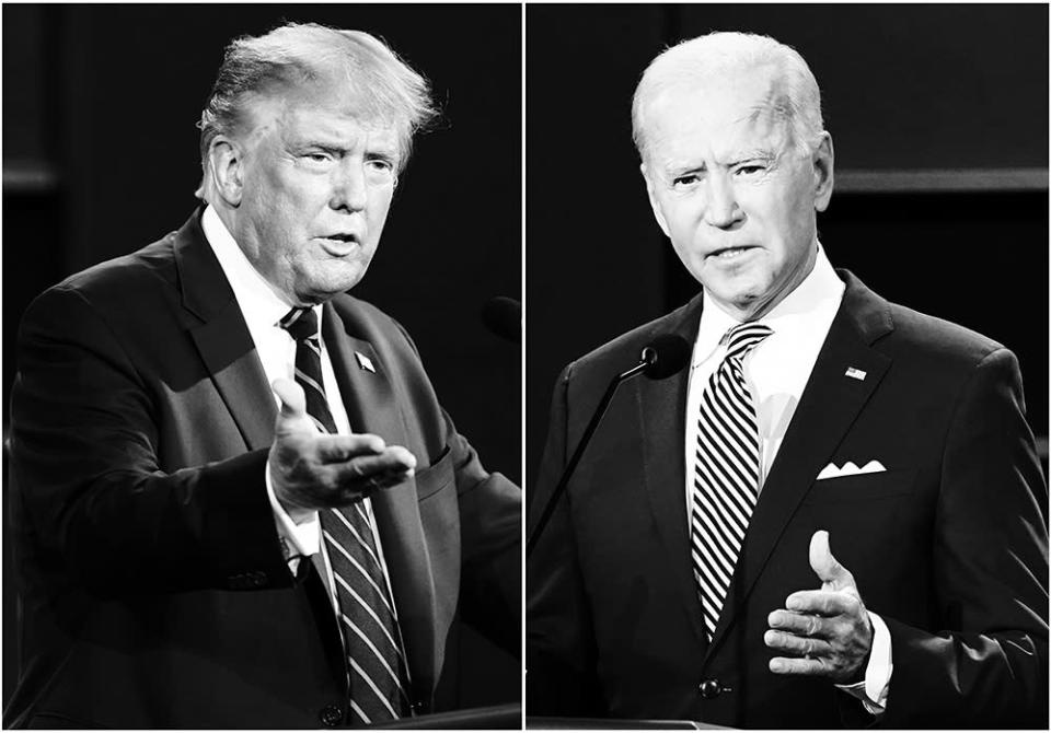 President Donald Trump, left, and former Vice President Joe Biden during the first presidential debate in September.