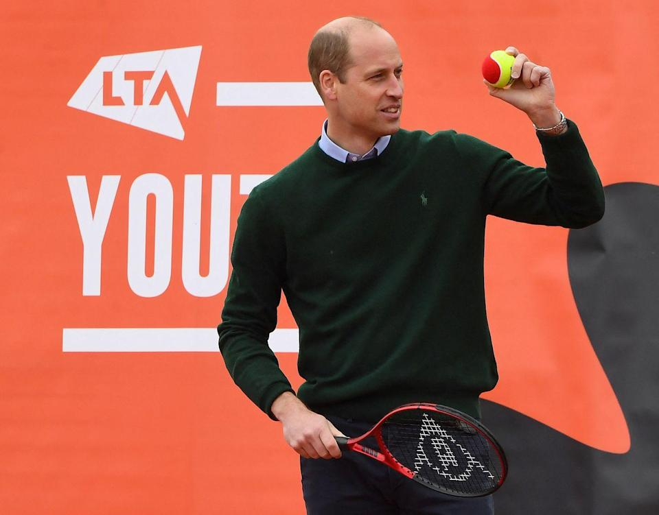 <p>Prince William got in on the game too, volleying a few balls with the youth program as well.</p>