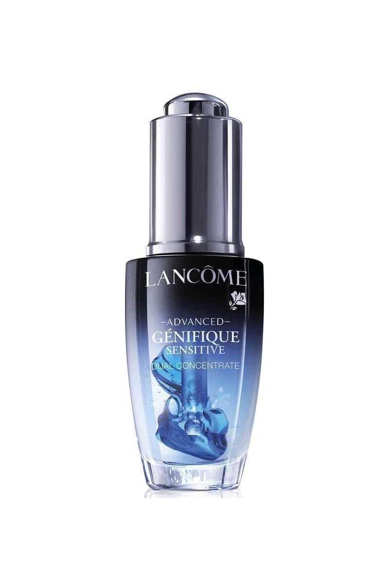 """<p><strong>Lancôme</strong></p><p>lancome-usa.com</p><p><strong>$78.00</strong></p><p><a href=""""https://go.redirectingat.com?id=74968X1596630&url=http%3A%2F%2Fwww.lancome-usa.com%2Fskin-care%2Fserums-and-treatments%2Fface-serums%2Fadvanced-genifique-sensitive-serum%2FLAN104.html&sref=https%3A%2F%2Fwww.elle.com%2Fbeauty%2Fmakeup-skin-care%2Ftips%2Fg8091%2Fface-serum%2F"""" rel=""""nofollow noopener"""" target=""""_blank"""" data-ylk=""""slk:Shop Now"""" class=""""link rapid-noclick-resp"""">Shop Now</a></p><p>Activating this calming treatment generates an attention-grabbing visual effect that's begging to be 'grammed. But, the purpose of this on-the-spot blending of the environmental damage-fighting antioxidants and soothing base is to keep the contents super fresh for maximum potency.</p>"""