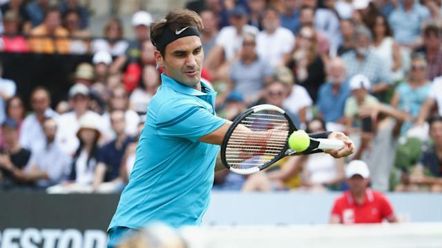 Roger Federer is one of just two seeds left in the Gerry Weber Open at the quarter-final stage, having scraped through on Thursday.