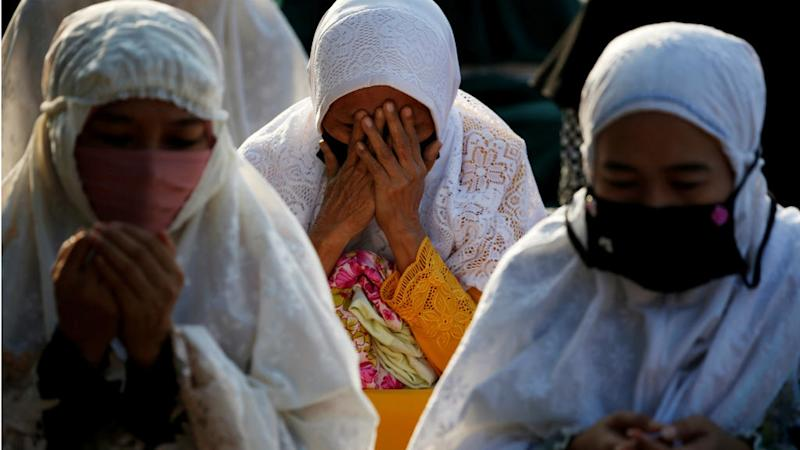 Muslims around the world perform Eid prayers amid Covid-19 pandemic distancing