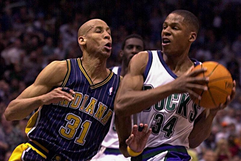 Reggie Miller and Ray Allen met twice in the playoffs. (Getty Images)