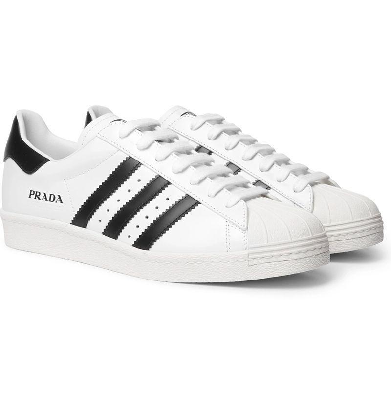 """<p><strong>Adidas</strong></p><p>mrporter.com</p><p><strong>$525.00</strong></p><p><a href=""""https://go.redirectingat.com?id=74968X1596630&url=https%3A%2F%2Fwww.mrporter.com%2Fen-us%2Fmens%2Fproduct%2Fadidas-consortium%2Fshoes%2Flow-top-sneakers%2Fplus-prada-superstar-450-leather-sneakers%2F29012654081345065&sref=https%3A%2F%2Fwww.esquire.com%2Fstyle%2Fmens-fashion%2Fg33995426%2Fbest-new-menswear-september-11-2020%2F"""" rel=""""nofollow noopener"""" target=""""_blank"""" data-ylk=""""slk:Buy"""" class=""""link rapid-noclick-resp"""">Buy</a></p><p>Prada's partnership with Adidas part two, this time featuring a Superstar done up in premium leather and stamped with that coveted Made in Italy imprimatur. </p>"""