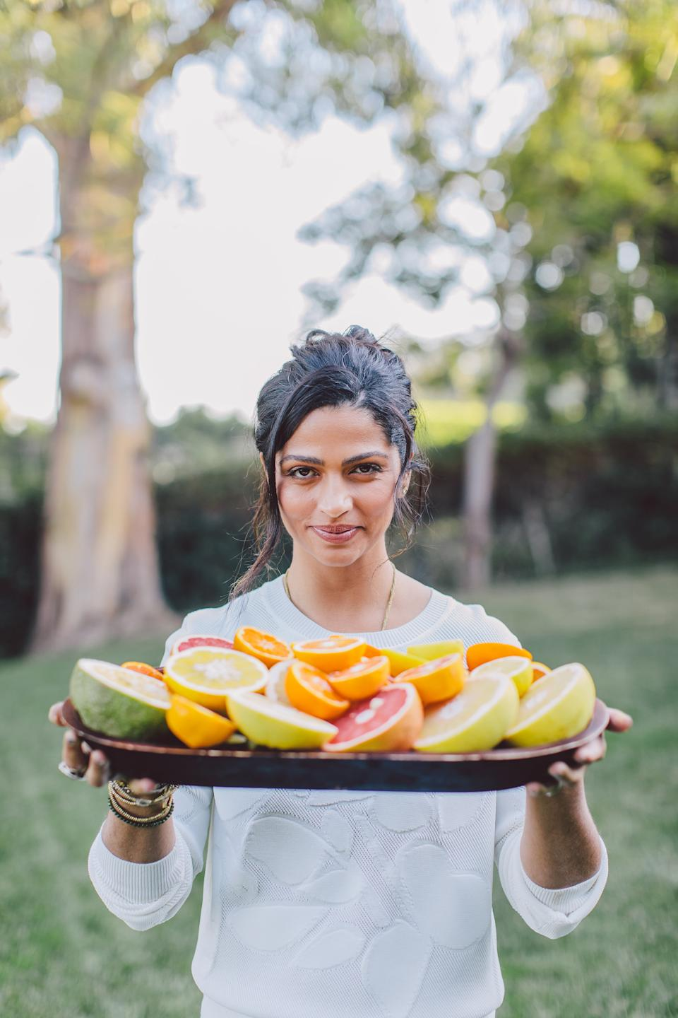 Camila Alves McConaughey recommends eating fruit during your detox: your body naturally occurring sugars differently than added sugars. (Photo: Ashley Burns)