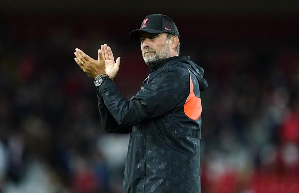 Liverpool manager Jurgen Klopp has full confidence in the depth of his squad (Peter Byrne/PA) (PA Wire)