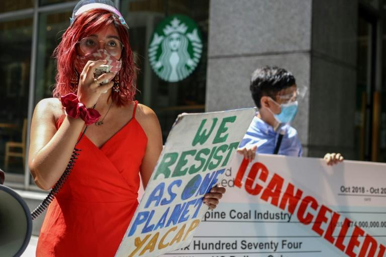 Filipina climate activist Mitzi Jonelle Tan says 'we need leaders to hear our stories' (AFP/Jam STA ROSA)