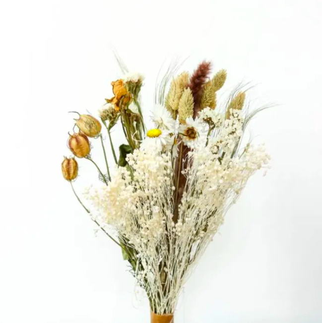 "And what could be better to fill such a vase than a bouquet of dried wildflowers?<br><br><strong>Berylune Dried Flowers</strong> Mixed Bouquet Of Wildflowers Natural, $, available at <a href=""https://www.trouva.com/products/berylune-dried-flowers-mixed-bouquet-of-wildflowers-natural"" rel=""nofollow noopener"" target=""_blank"" data-ylk=""slk:Trouva"" class=""link rapid-noclick-resp"">Trouva</a>"