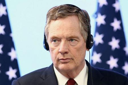 FILE PHOTO: U.S. Trade Representative Robert Lighthizer takes part in a joint news conference on the closing of the seventh round of NAFTA talks in Mexico City, Mexico March 5, 2018. REUTERS/Edgard Garrido/File Photo