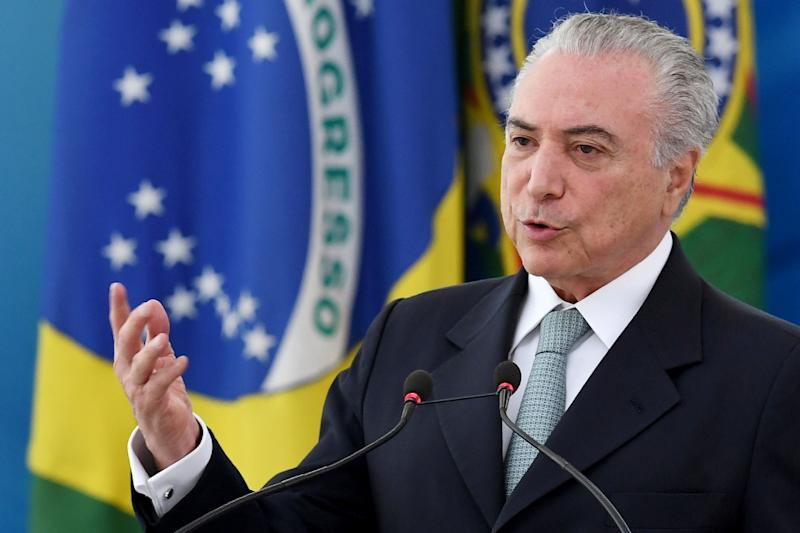 Brazil's Temer denies asking construction firm for campaign money