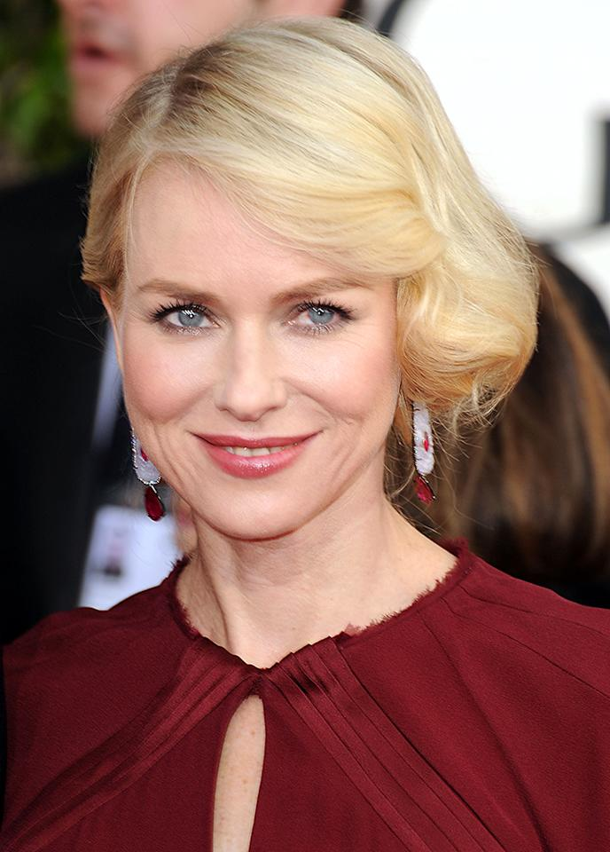 Naomi Watts arrives at the 70th Annual Golden Globe Awards at the Beverly Hilton in Beverly Hills, CA on January 13, 2013.