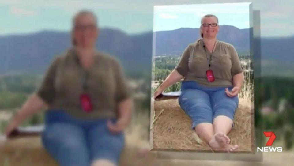At her heaviest Lorna Shelton weighed close to 115 kg. Source: 7 News