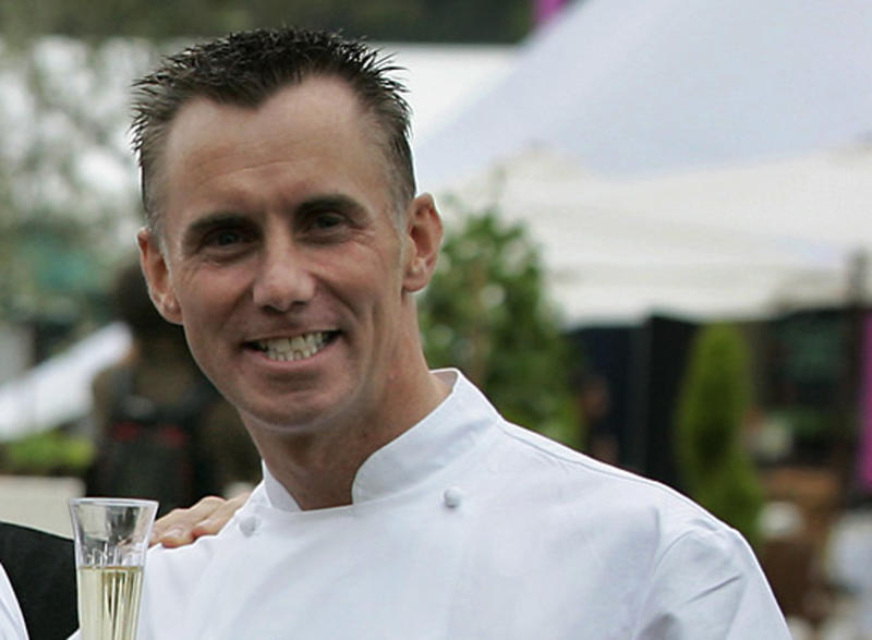 "FILE - In this June 16, 2005, file photo, celebrity chef Gary Rhodes poses for photographs at the launch of the ""Taste of London"" festival in the city's Regent's Park. The family of British celebrity chef Gary Rhodes said Wednesday, Nov. 27, 2019, that he has died at the age of 59 with his wife Jennie by his side. (AP Photo/Matt Dunham, File)"