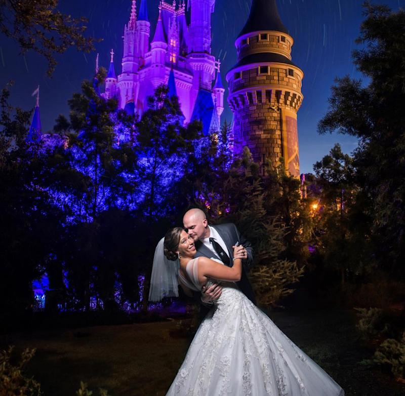 Now this is how you get married at Disney World. (Photo: disneyweddings via Instagram)