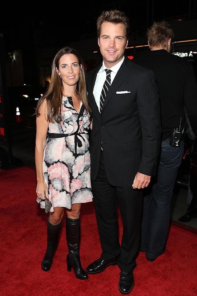 """<a href=""""http://movies.yahoo.com/movie/contributor/1800019490"""">Chris O'Donnell</a> and wife at the Los Angeles premiere of <a href=""""http://movies.yahoo.com/movie/1810007086/info"""">Max Payne</a> - 10/13/2008"""