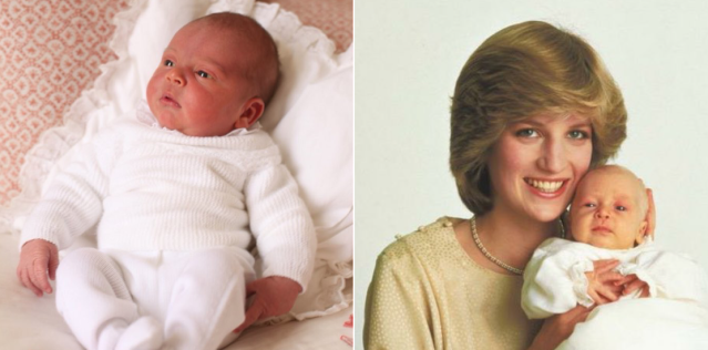 Prince Louis (Photo: HRH Duchess of Cambridge); Princess Diana with Prince William (Photo: Kensington Palace)